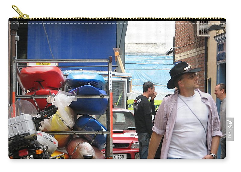 Alley Carry-all Pouch featuring the photograph Dublin Alley by Kelly Mezzapelle