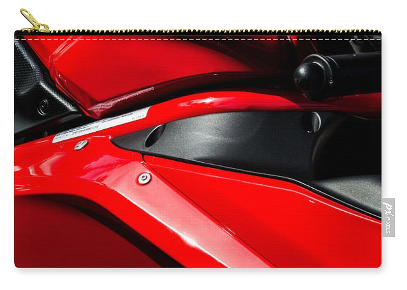 Ducati 1098 Motorcycle Carry-all Pouch featuring the photograph Ducati 1098 Motorcycle -0893c by Jill Reger