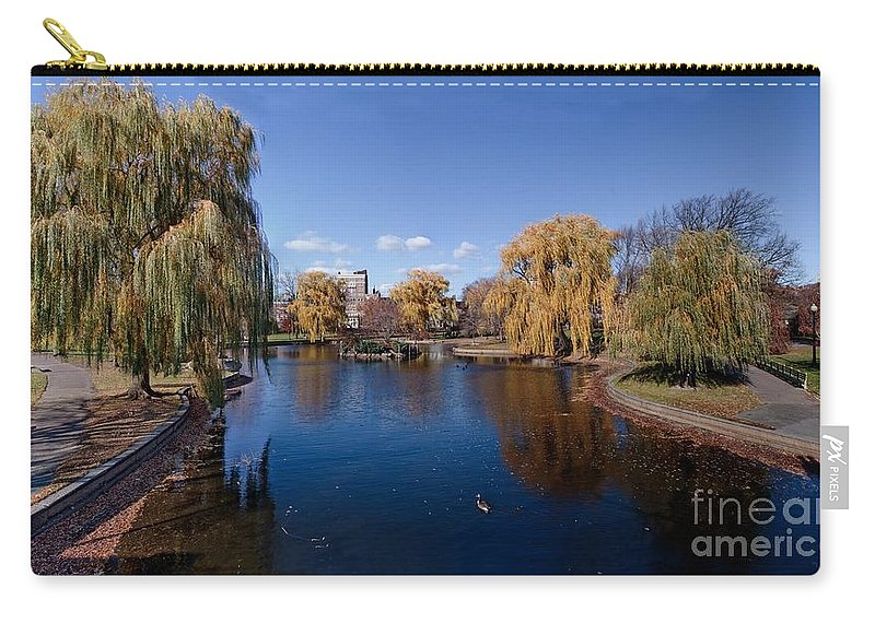 Boston Carry-all Pouch featuring the photograph Duck Pond Public Gardens Boston Massachusetts by Thomas Marchessault