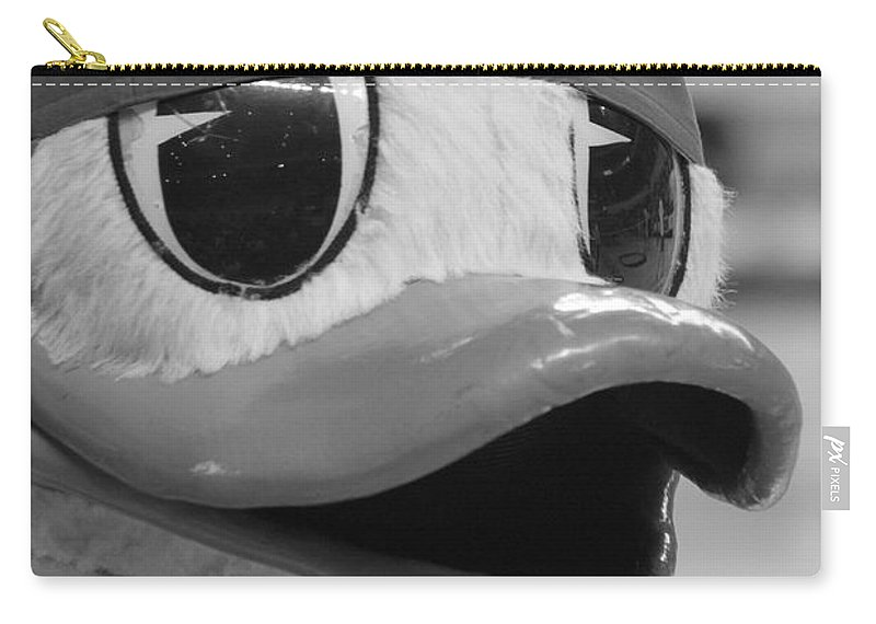 Duck Carry-all Pouch featuring the photograph Ducking Around by Laddie Halupa