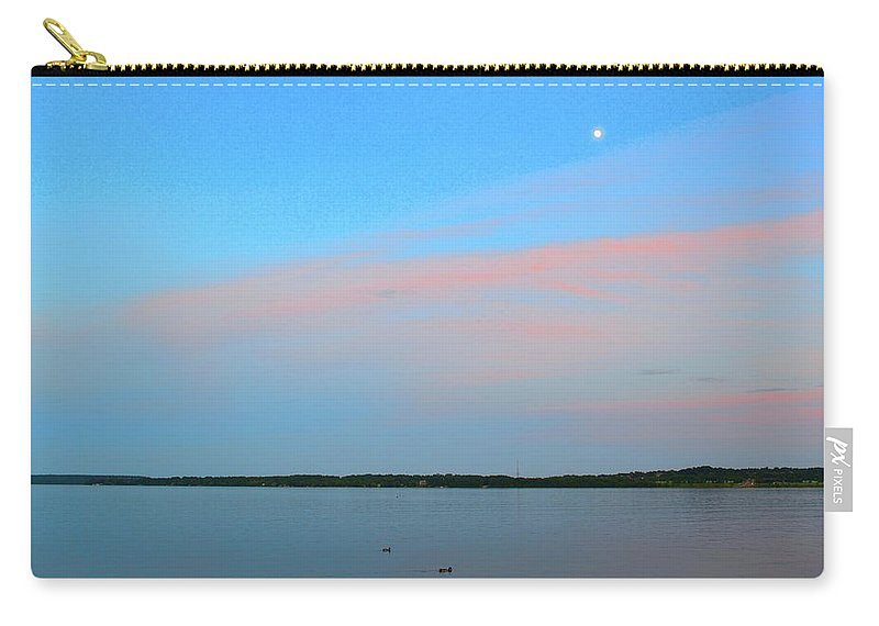Sky Carry-all Pouch featuring the photograph Ducks Below The Moon by Lyle Crump