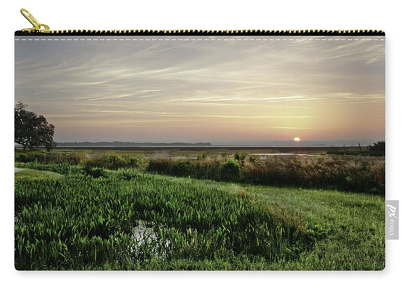Sunrise Carry-all Pouch featuring the photograph Due East by Phill Doherty