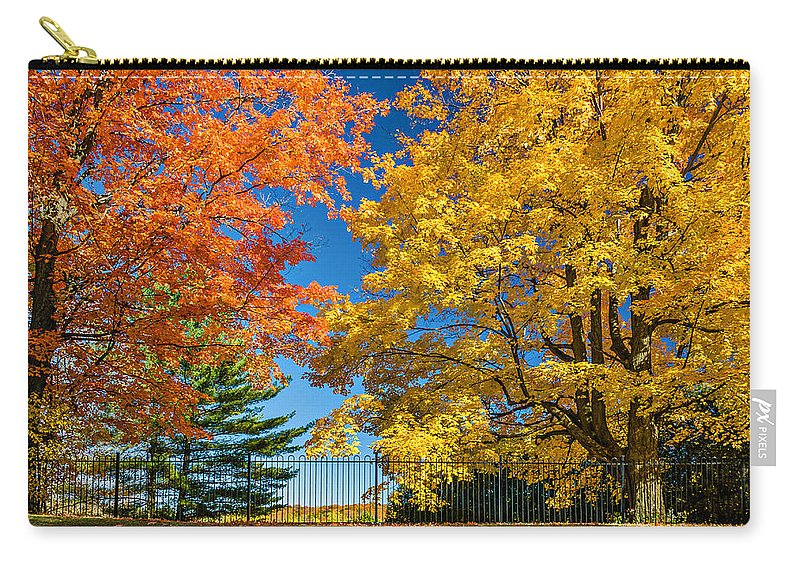 Maples Carry-all Pouch featuring the photograph Dueling Maples by Steve Harrington