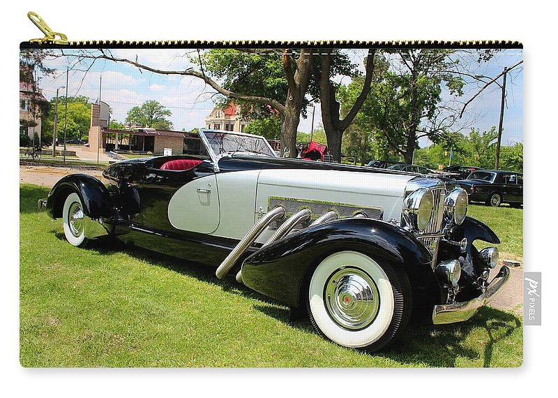 Car Carry-all Pouch featuring the photograph Duesenberg I by Michiale Schneider