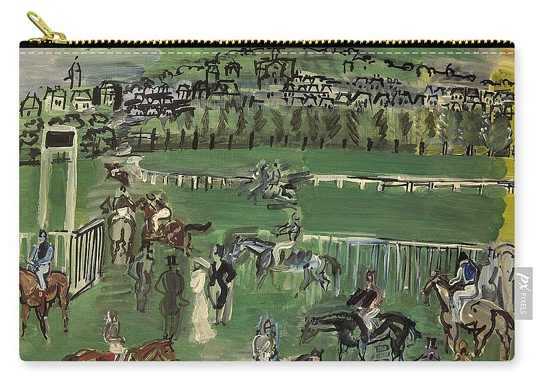 1928 Carry-all Pouch featuring the photograph Dufy: Race Track, 1928 by Granger