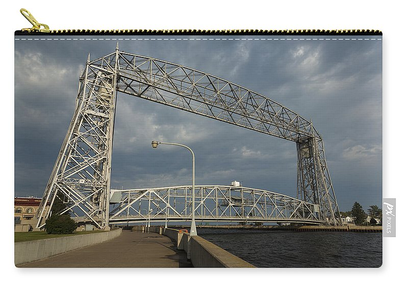 Aerial Carry-all Pouch featuring the photograph Duluth Lift Bridge 2 by John Brueske