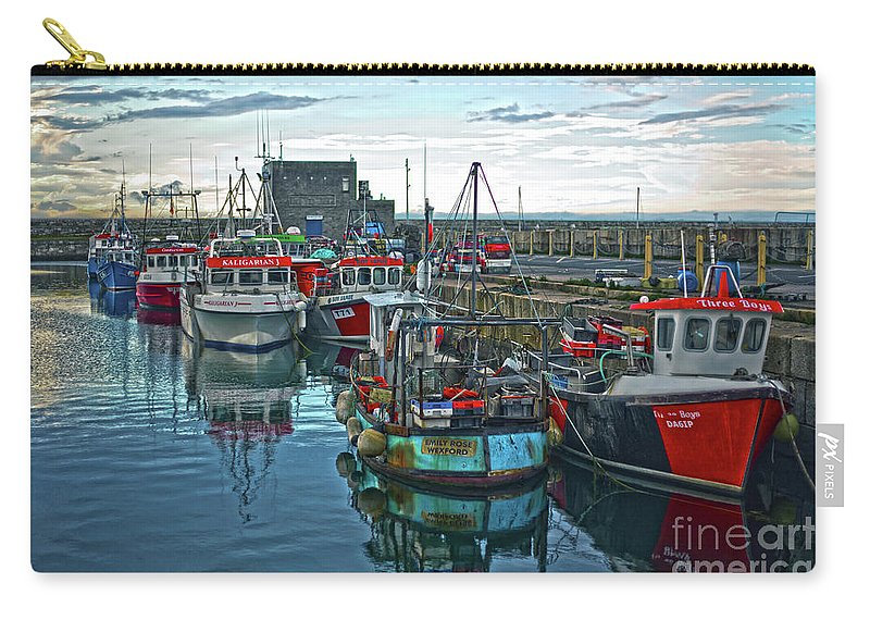 Dun Laoghaire Carry-all Pouch featuring the photograph Dun Laoghaire 15 by Alex Art and Photo