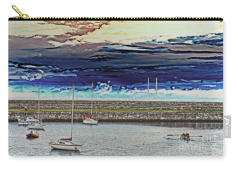 Dun Laoghaire Carry-all Pouch featuring the photograph Dun Laoghaire 20 by Alex Art and Photo