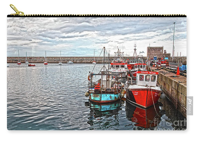 Dun Laoghaire Carry-all Pouch featuring the photograph Dun Laoghaire 27 by Alex Art and Photo