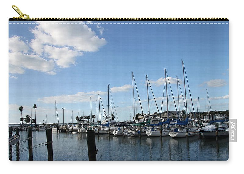 Dunedin Carry-all Pouch featuring the photograph Dunedin Marina I by Christiane Schulze Art And Photography
