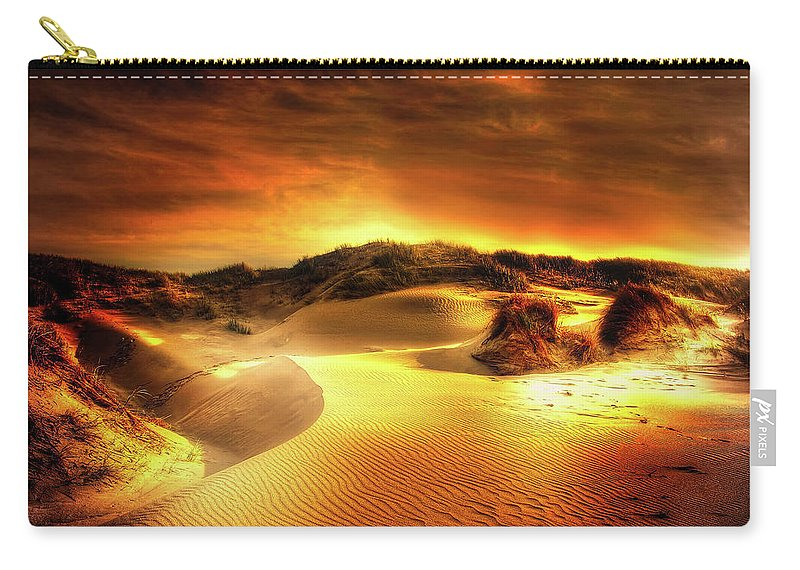 Sunset Carry-all Pouch featuring the photograph Dunes At Sunset by Kordi Vahle