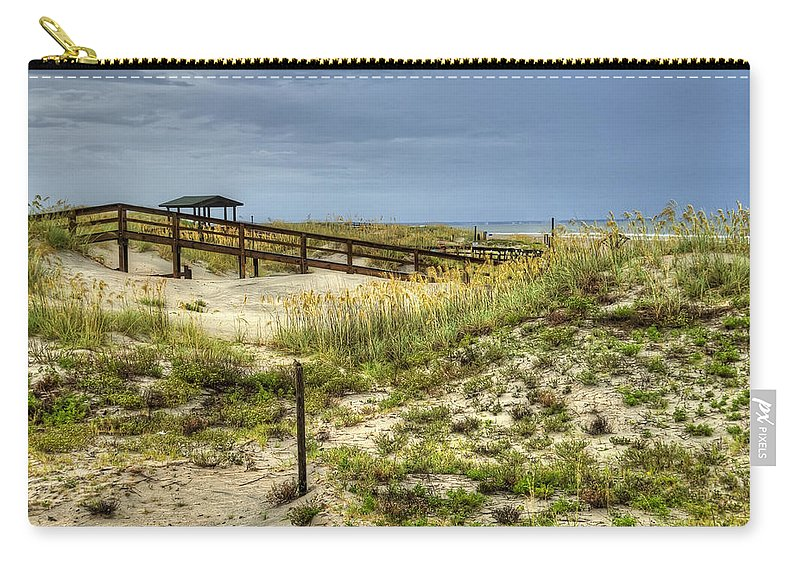 Tybee Island Carry-all Pouch featuring the photograph Dunes At Tybee Island by Tammy Wetzel
