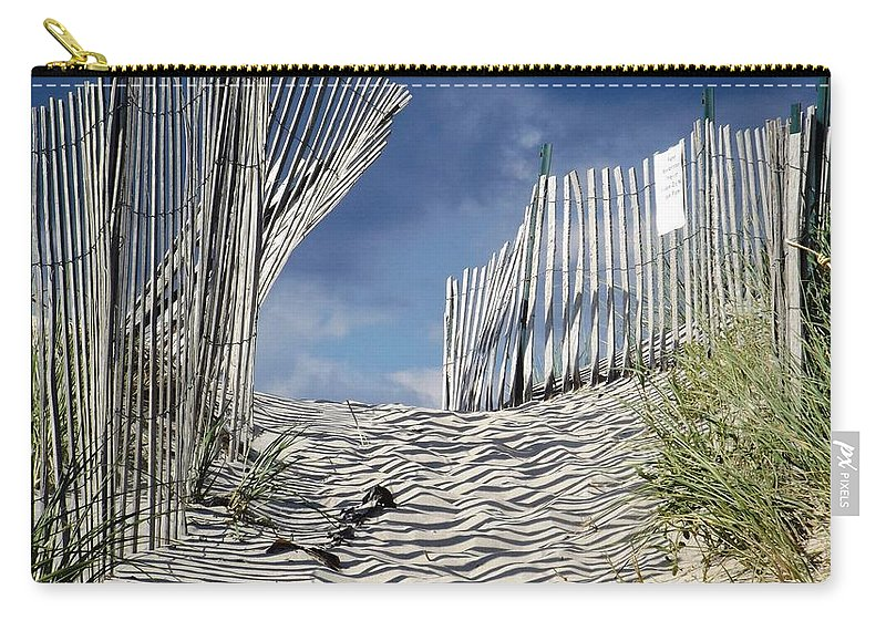 Dunes Carry-all Pouch featuring the photograph dunes in RI by Agnieszka Adamska