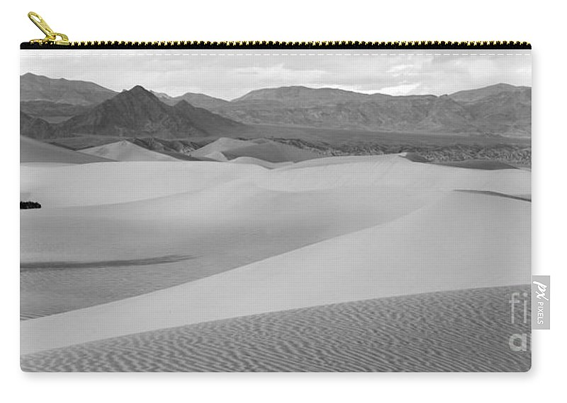 Black And White Carry-all Pouch featuring the photograph Dunes In The Valley Black And White by Adam Jewell