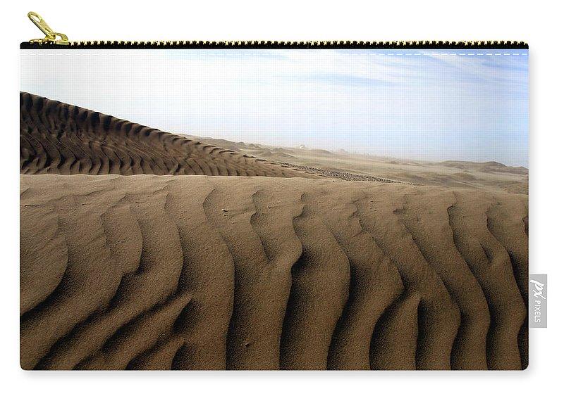 Sand Dunes Carry-all Pouch featuring the photograph Dunes Of Alaska by Anthony Jones