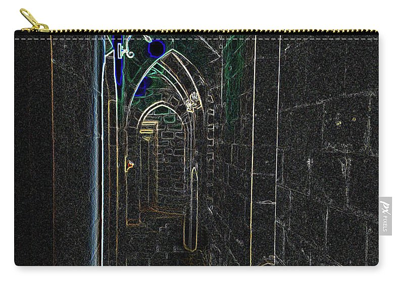 Photograph Carry-all Pouch featuring the photograph Dungeon Passage by Nicole Parks