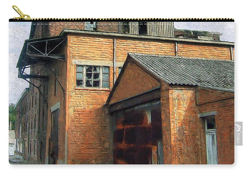 Old Foundry Building Carry-all Pouch featuring the painting Dunkirk Foundry by Dominic Piperata