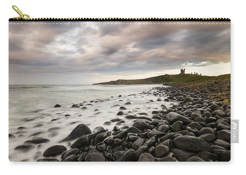Coast Carry-all Pouch featuring the photograph Dunstanburgh Castle Sunset by Chris Smith