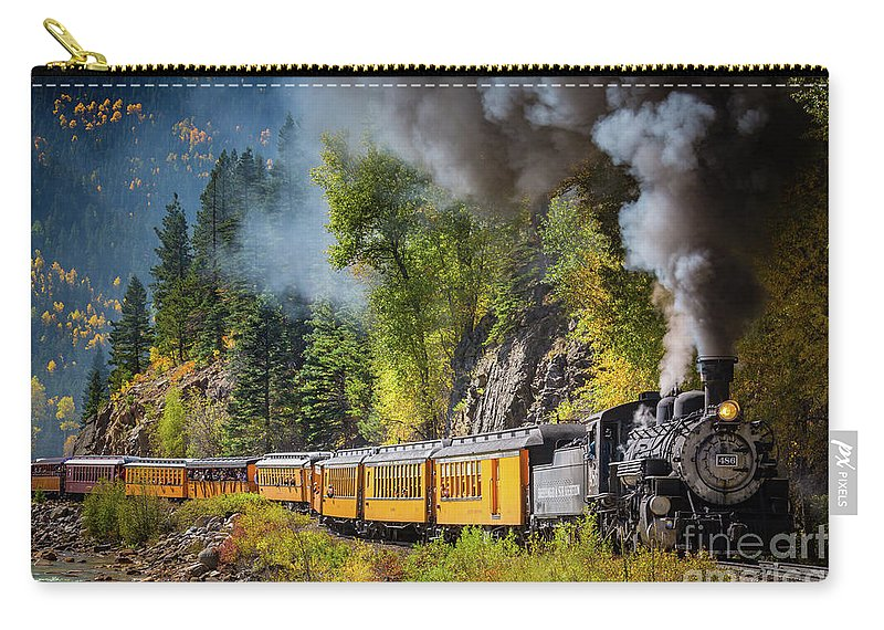 America Carry-all Pouch featuring the photograph Durango-silverton Narrow Gauge Railroad by Inge Johnsson