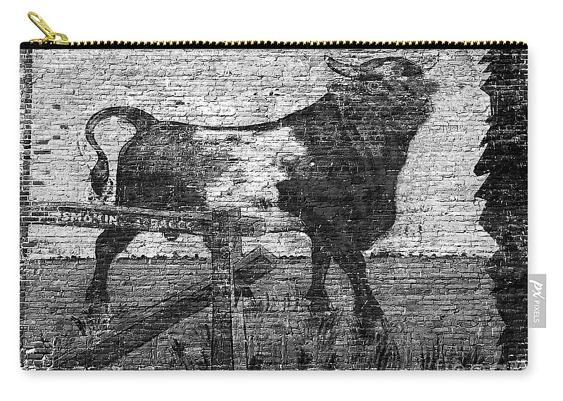 Bull Durham Carry-all Pouch featuring the photograph Durham's Bull by David Lee Thompson