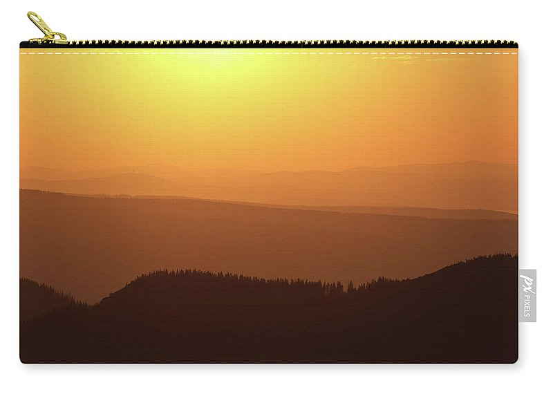 Hill Carry-all Pouch featuring the photograph Dusk At Tatry Mountains, Carpathian Region, Poland by Lukasz Szczepanski