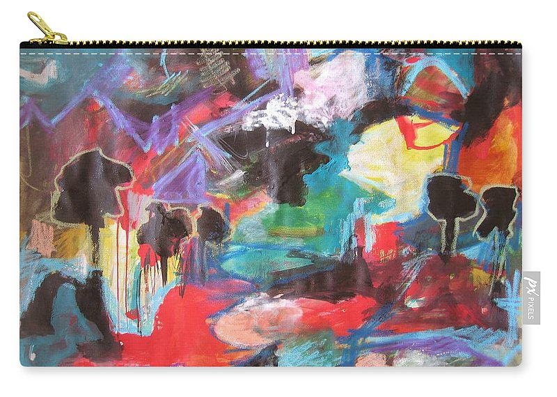 Original Carry-all Pouch featuring the painting dusk in Bay Roberts by Seon-Jeong Kim