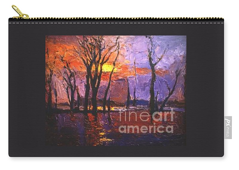 Dusk Carry-all Pouch featuring the painting Dusk by Meihua Lu