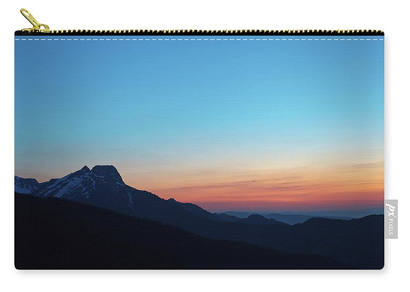 Hill Carry-all Pouch featuring the photograph Dusk Over Giewont Peak At Tatry Mountains, Poland by Lukasz Szczepanski