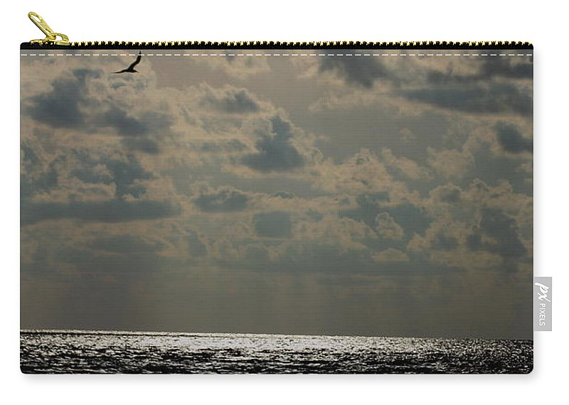Sunset Carry-all Pouch featuring the photograph Dusk Sets In by Barbara Bowen