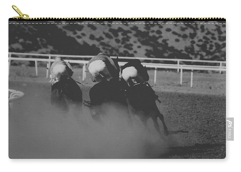 Horse Carry-all Pouch featuring the photograph Dust And Butts by Kathy McClure