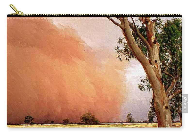 Dust Carry-all Pouch featuring the painting Dust Storm by Dominic Piperata
