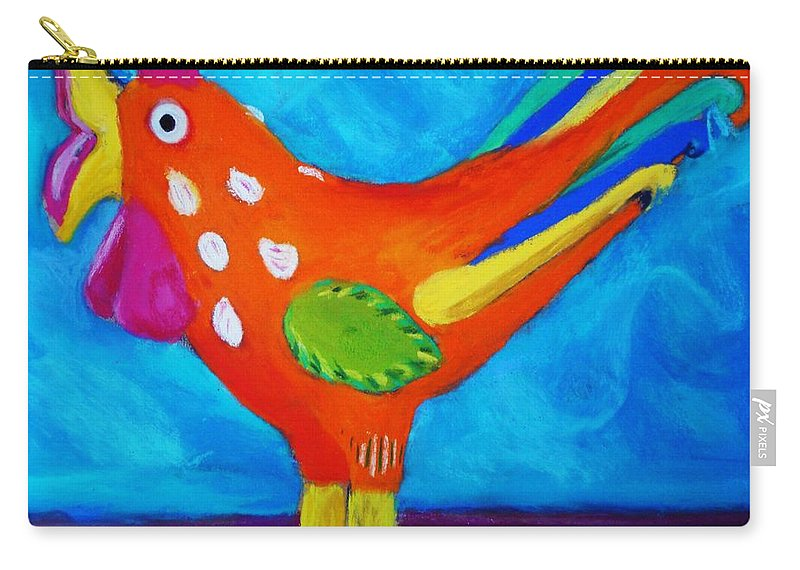 Bird Carry-all Pouch featuring the pastel Dusty's Chick by Melinda Etzold