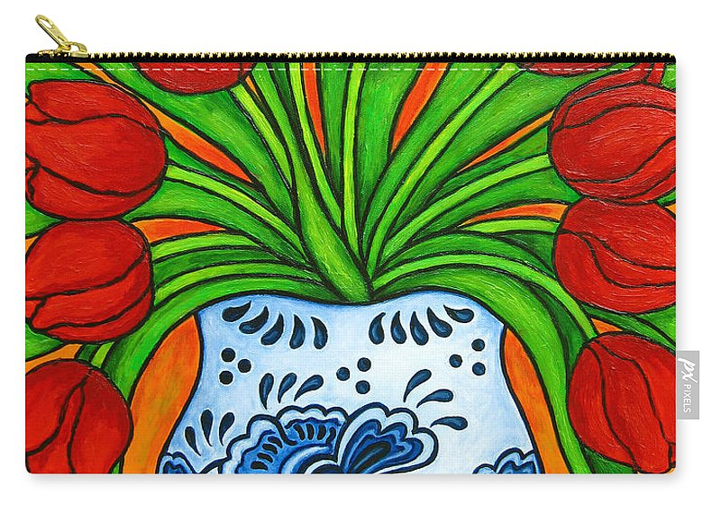 White Carry-all Pouch featuring the painting Dutch Delight by Lisa Lorenz
