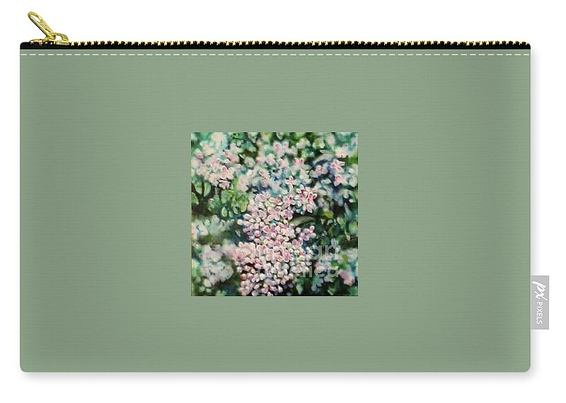 Lilacs Carry-all Pouch featuring the painting Dwarf Korean Lilac by Karen Sloan