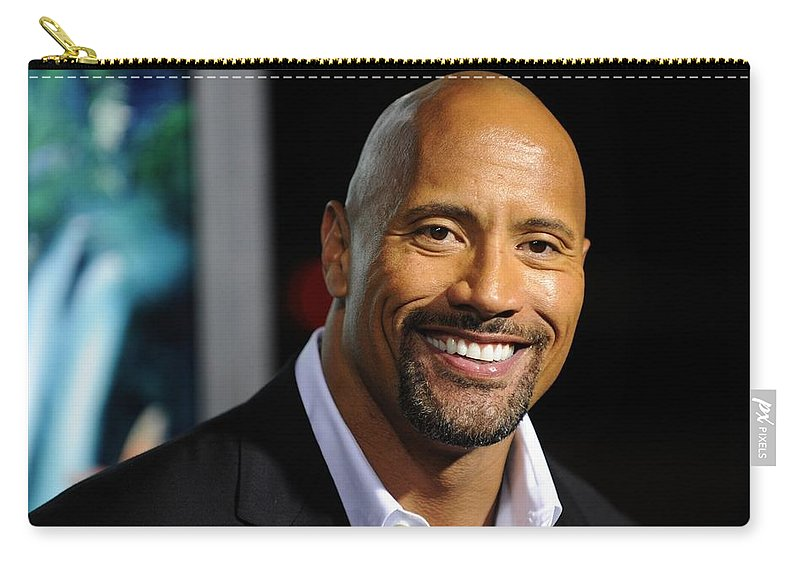 Dwayne Johnson Carry-all Pouch featuring the digital art Dwayne Johnson by Meggi Andrew