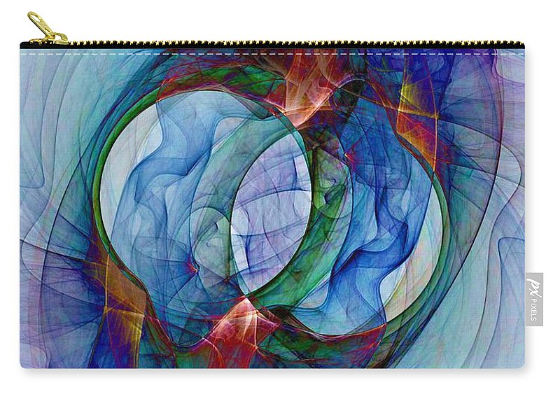 Dye Carry-all Pouch featuring the digital art Dye In Solvent by Ron Bissett