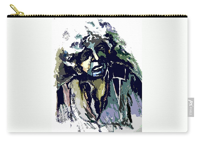Bob Dylan Carry-all Pouch featuring the painting Dylan by Mindy Newman