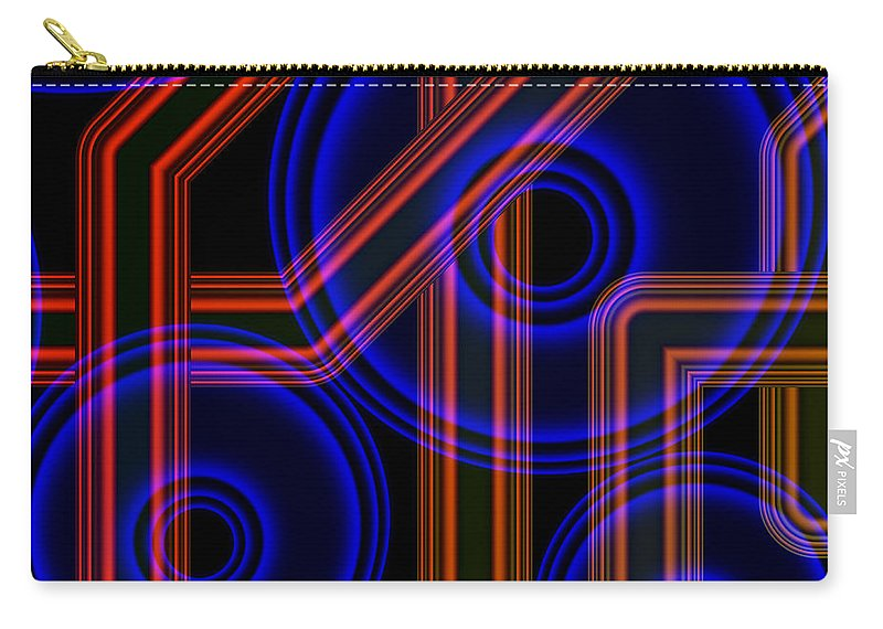 Art Carry-all Pouch featuring the digital art Dynamics by Candice Danielle Hughes