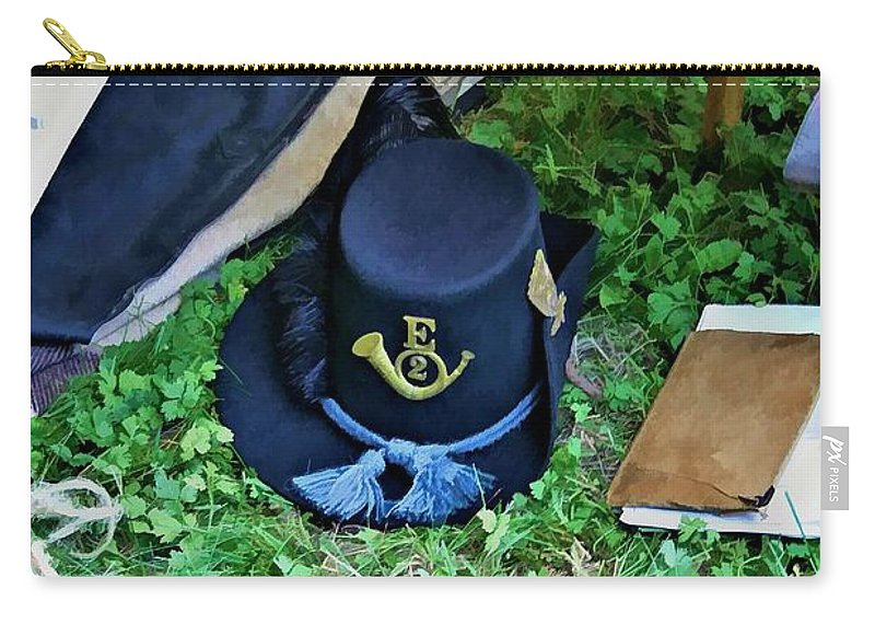 2nd Wisconsin Carry-all Pouch featuring the digital art E Company Black Hat by Tommy Anderson