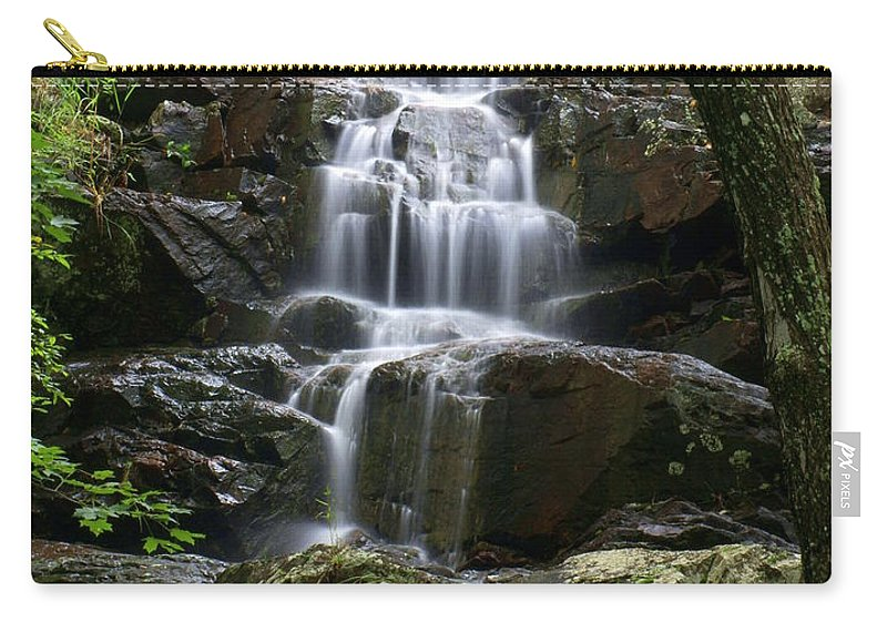 Waterfalls Carry-all Pouch featuring the photograph E Falls by Marty Koch