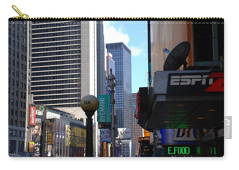 Food Carry-all Pouch featuring the photograph E Food Taxi New York City by Rob Hans