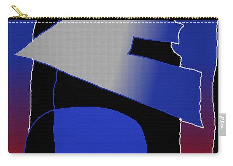 Eu Carry-all Pouch featuring the digital art E-likes-eu by Helmut Rottler