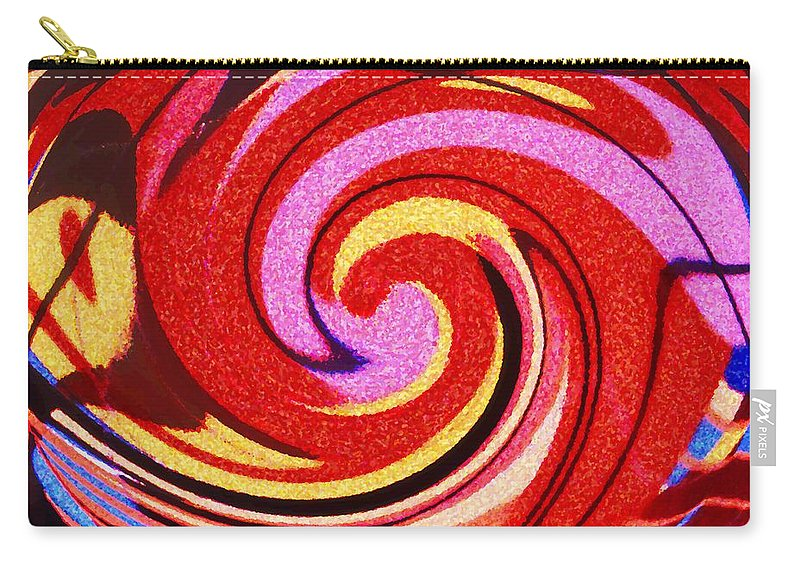 Eagle Carry-all Pouch featuring the digital art Eagle And Bear by Ian MacDonald
