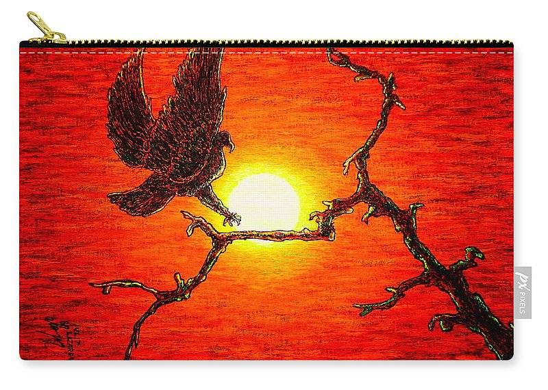 Eagle Carry-all Pouch featuring the painting Eagle B2 by Viktor Lazarev