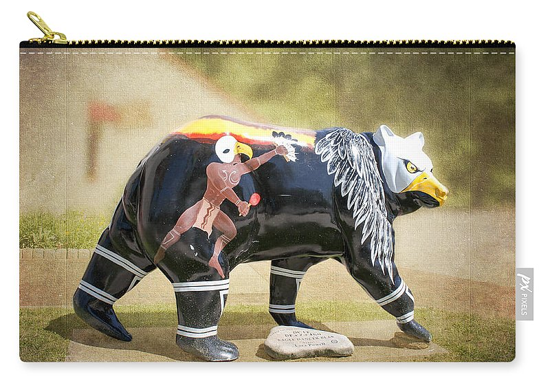 Eagle Dancer Bear Carry-all Pouch featuring the photograph Eagle Dancer Bear by Cynthia Woods