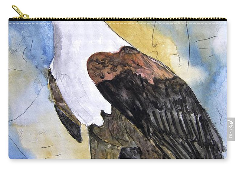 Realistic Carry-all Pouch featuring the painting Eagle by Derek Mccrea