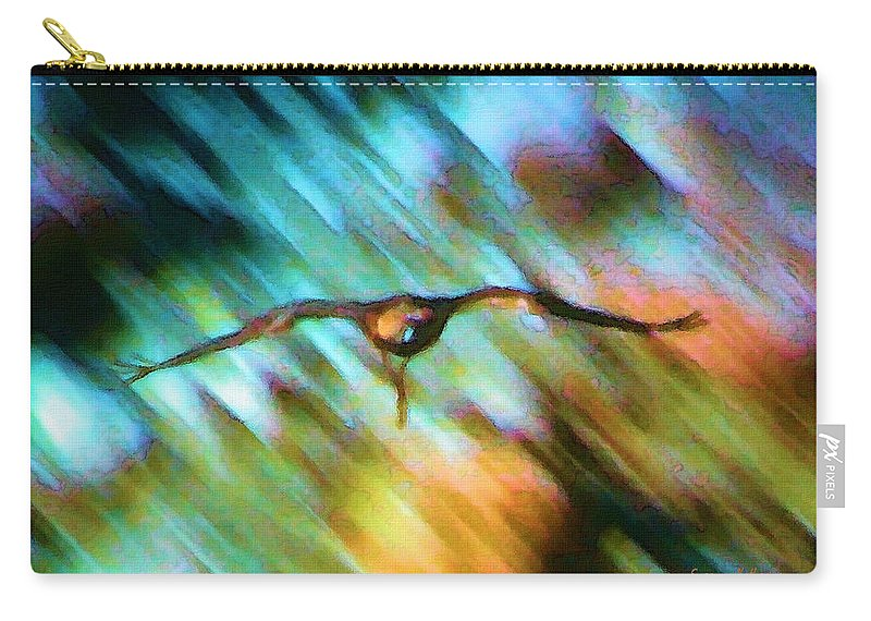 Eagle Carry-all Pouch featuring the painting Eagle In Flight by Susanna Katherine