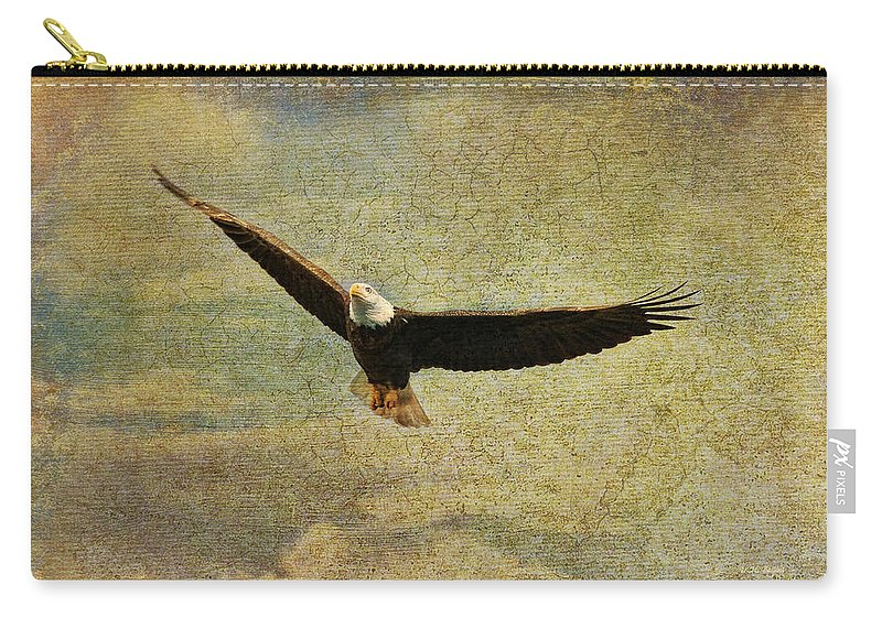 Eagle Carry-all Pouch featuring the photograph Eagle Medicine by Deborah Benoit