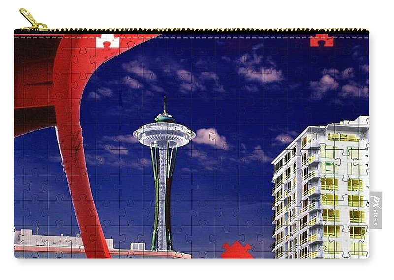 Seattle Carry-all Pouch featuring the digital art Eagle Needle by Tim Allen