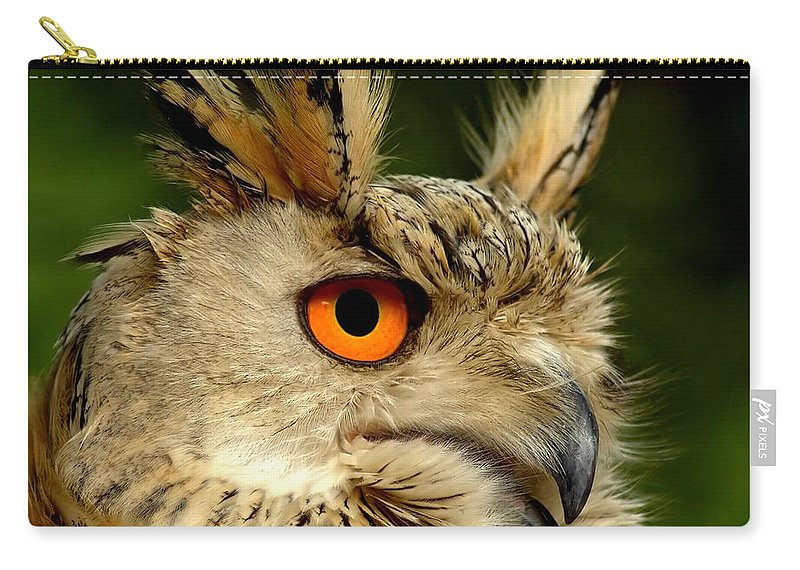 Wildlife Carry-all Pouch featuring the photograph Eagle Owl by Jacky Gerritsen